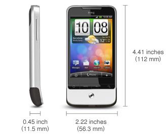 HTC Legend Grösse