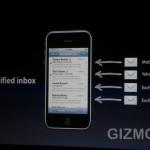 iphone OS 4.0 : universeller Posteingang | © gizmodo.com