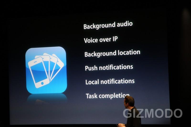 iphone OS 4.0 : Multitasking | © gizmodo.com