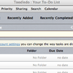 Toodledo Desktop Tool