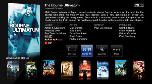 Apple TV Filmansicht im US Store