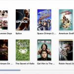 Filmauswahl im iTunes US-Store