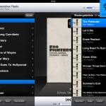 Squeezepad App - Wiedergabeliste als Slider von rechts