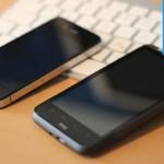 HTC Desire HD im Grössenvergleich mit dem iPhone 4