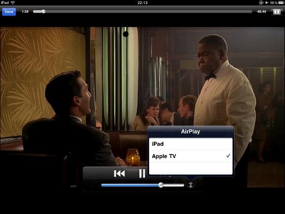 Dank AirPlay ist das Anzeigegerät bei der Wiedergabe wählbar.
