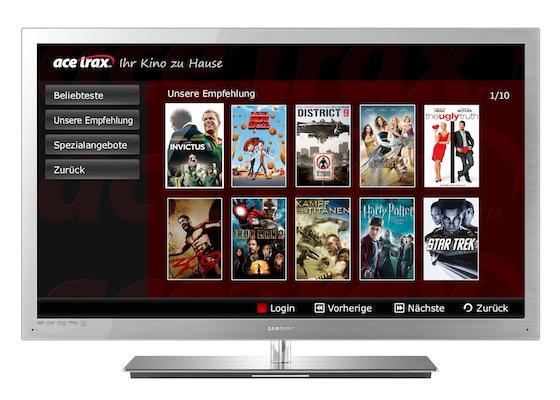 Filmverleih auf Samsung Internet@TV Geräten