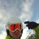 GoPro Kamera im Schnee