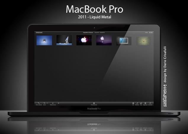 Designvorschlag für ein MacBook Pro aus Liquid Metal