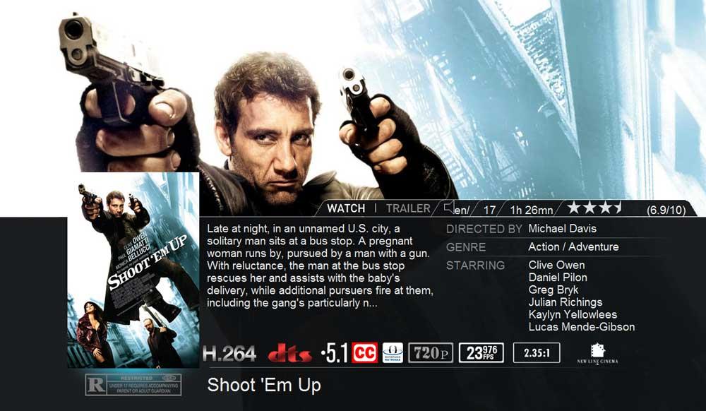 YAMJ + Aeon Movie Detailansicht auf der Popcorn Hour A-110
