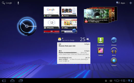 Android Honeycomb Screenshot (c) techworld.com