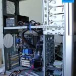 Server während Bau