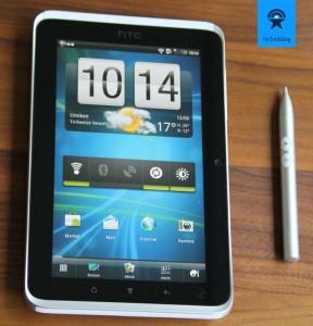 HTC Flyer - Bedienungskonzept mit Stift