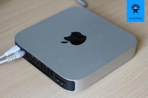 Mac Mini Server im Betrieb