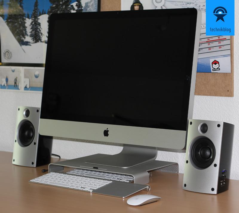 """Teufel Concept B 20 in Kombination mit einem 27"""" iMac"""