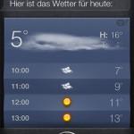Siri - Wie ist das Wetter heute