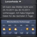 Siri: Wie ist das Wetter nächste Woche in der Lenzerheide?