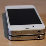 iPhone 4S Vergleich zum iPhone 4 der Antenne oben