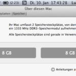MacBook Pro läuft auch mit 16GB RAM