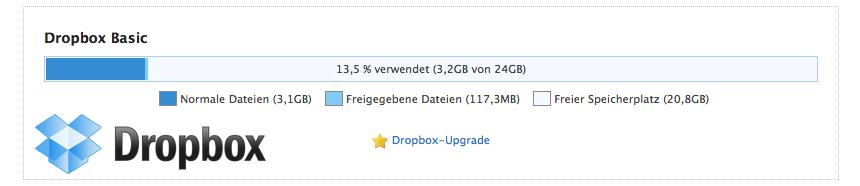 Dropbox - Speicher gratis erweitern
