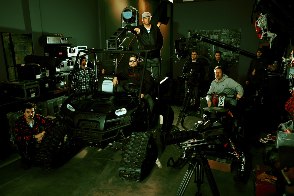 Travis Rice and the Brain Farm film crew (c)brainfarmcinema.com