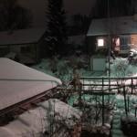 Schneeweiss in der Nacht