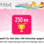 Fitbit 250km Abzeichen - Abzeichen animieren mehr zu Leisten