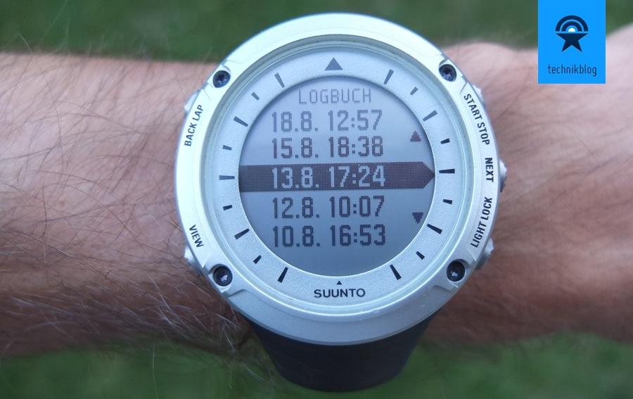 Suunto Ambit - Trainingslogbuch auf der Uhr