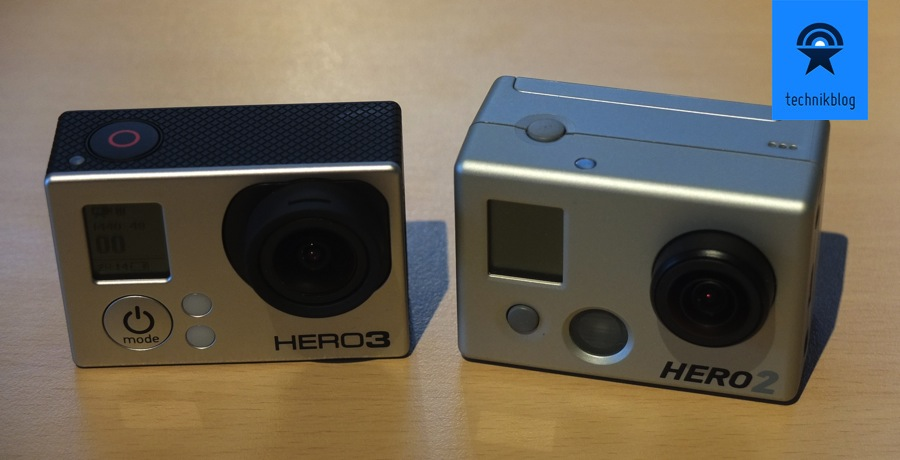 GoPro Hero 2 und Hero 3 Black Edition