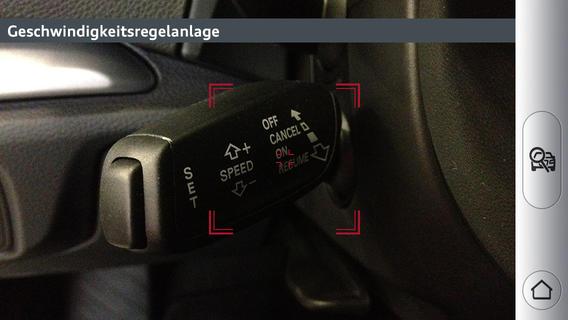 Audi mit Augmented Reality App