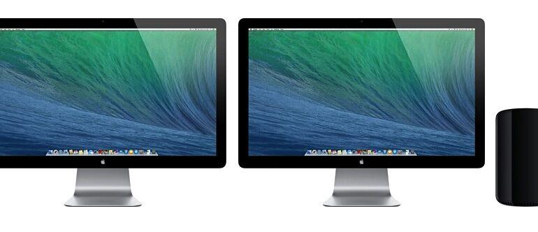 Mac Pro mit Displays