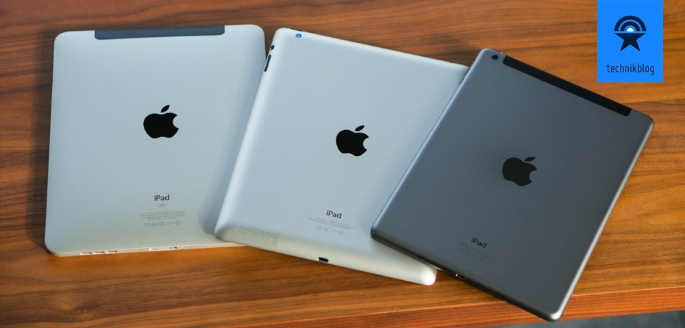 Apple iPad Air im Vergleich mit seinen Vorgängern