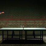Roboterarm Kuka spielt Tischtennis gegen Profi