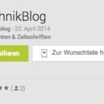 Technikblog präsentiert eigene Android App