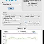 Speedmessung LMP Thunderbox 400 direkt mit 1GB File