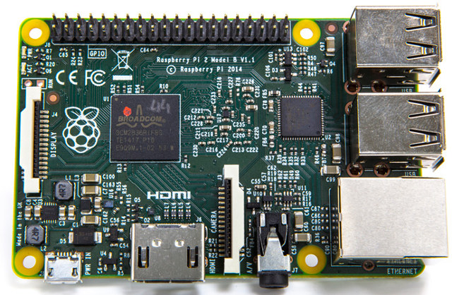Raspberry Pi 2 Model B mit Quad-Core CPU und Windows 10 Support