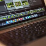 Apple MacBook mit Lightroom 6