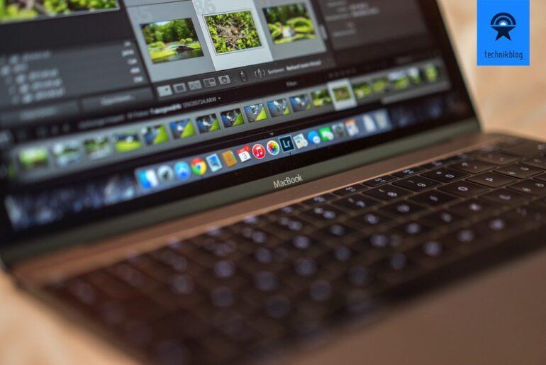 Apple MacBook mit Lightroom 6