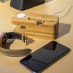 Apple Watch Zubehör: Leder-Armband und Ladestation