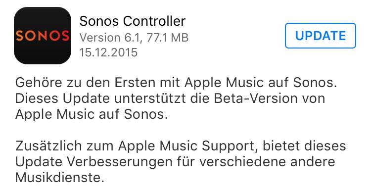 Apple Music auf Sonos