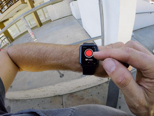 Mike Grab und die GoPro App auf der Apple Watch