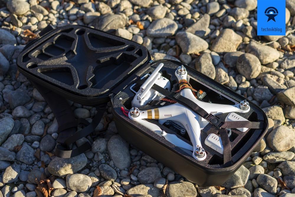 Ein Rucksack und alles dabei: DJI Phantom 3