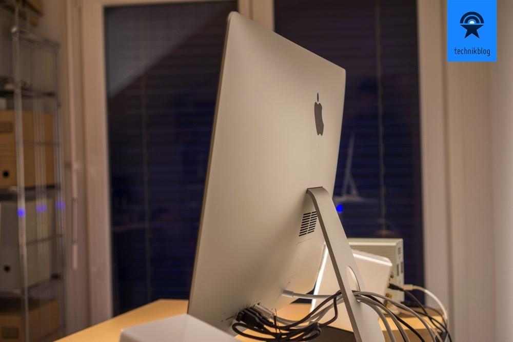 Von vorne kaum noch Kabel sichtbar: iMac 5k