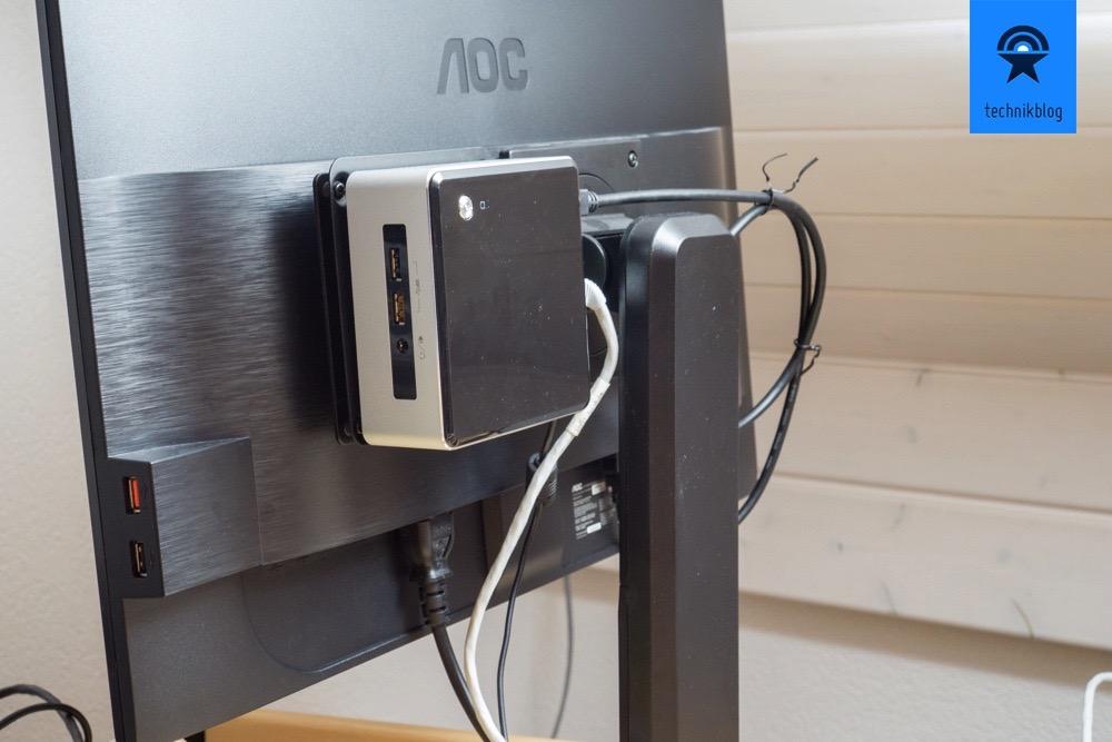 Intel Nuc Mit Vesa Mount Erweiterung Am Monitor Befestigen