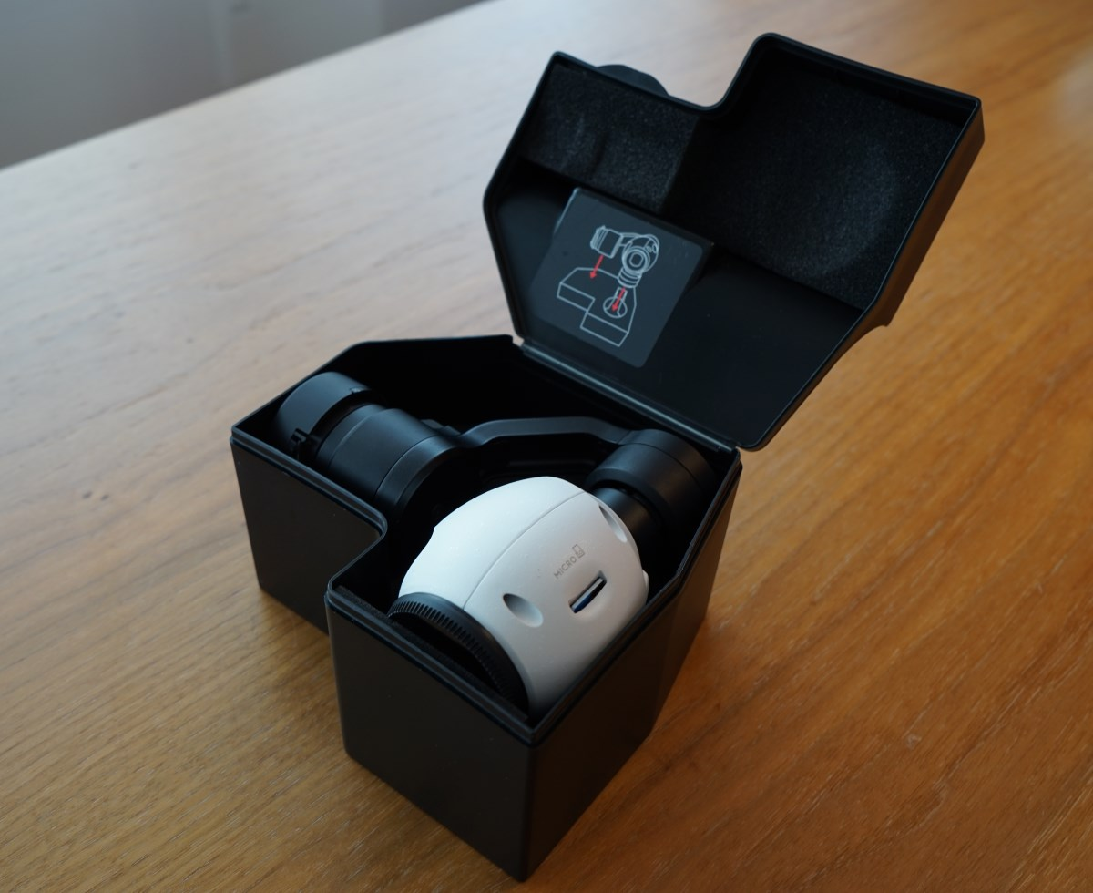 DJI X3 Kamera mit der Hülle