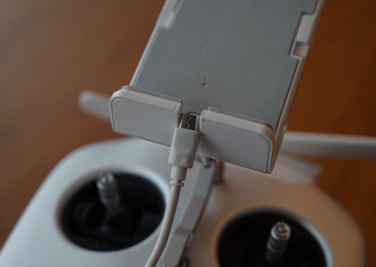 Unverständlich: USB-Ausspaarung an der DJI Remote zu klein