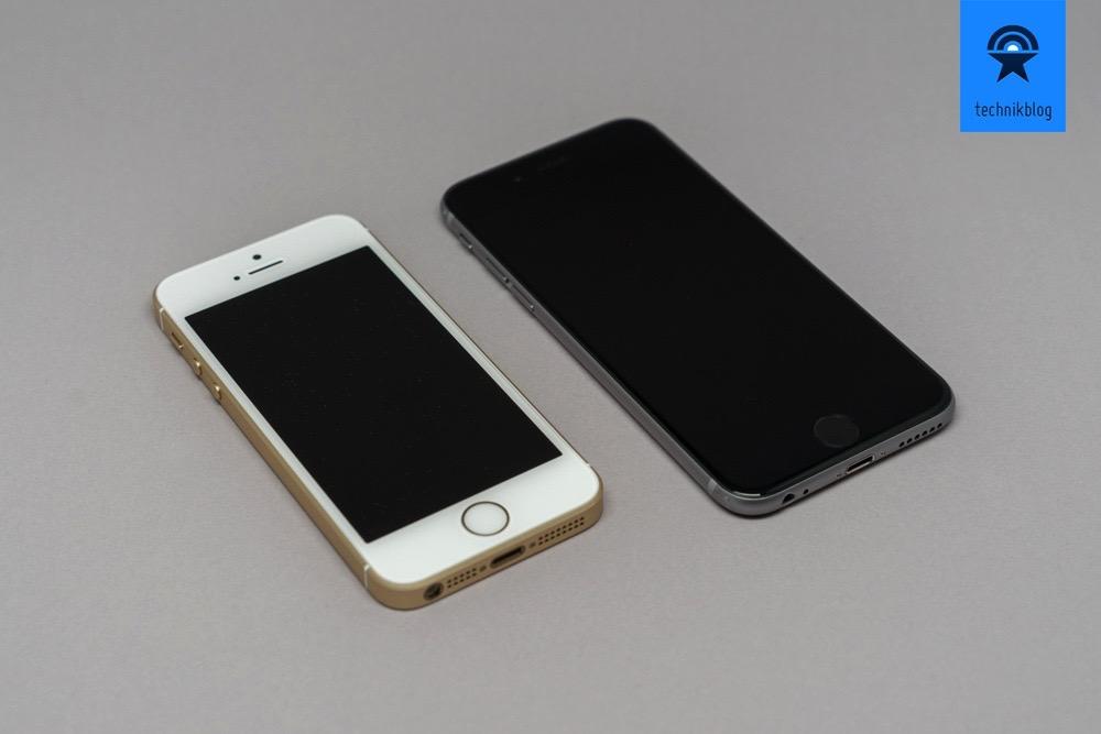 Grössenvergleich: iPhone SE vs. iPhone 6S