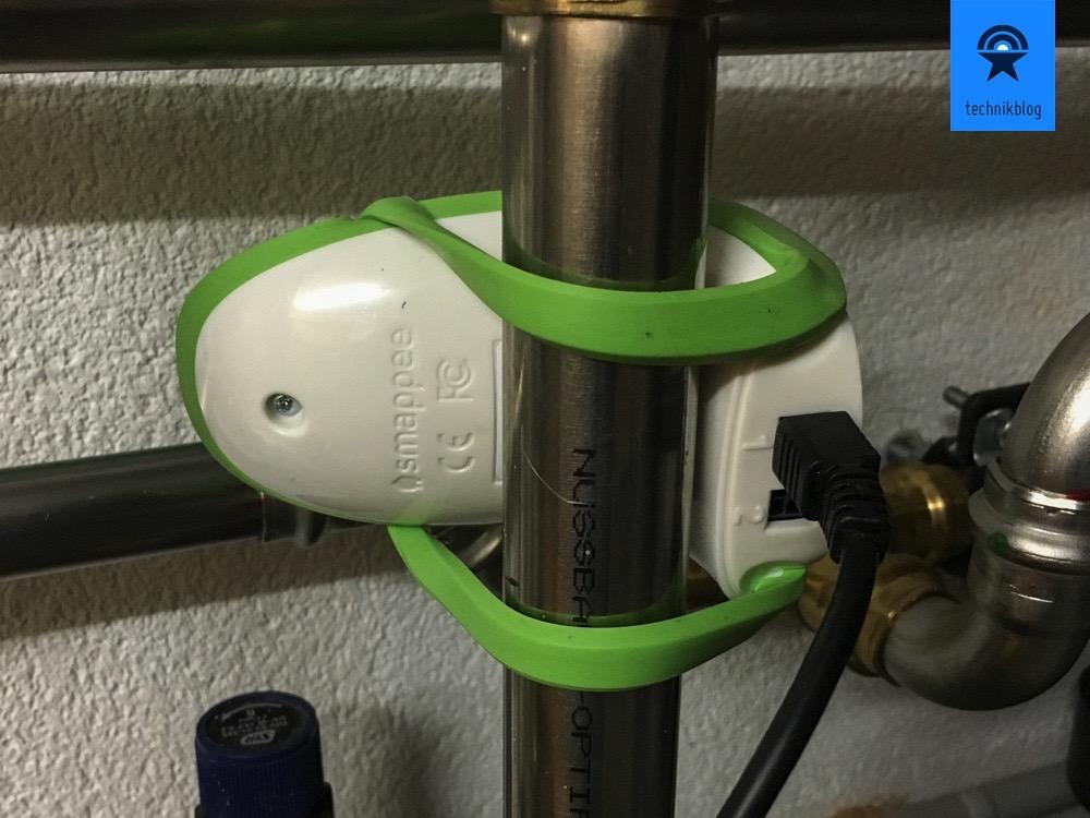 Der Smappee Gas und Wasser Monitor kann zwei Kanäle gleichzeitig erfassen.