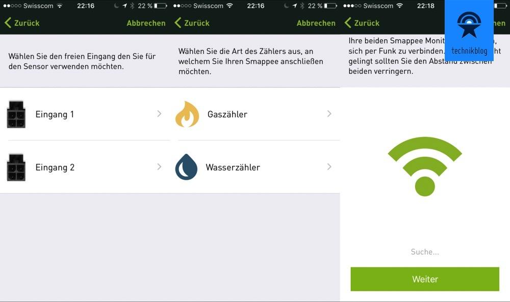 Smappee Gas und Wasser Monitor App