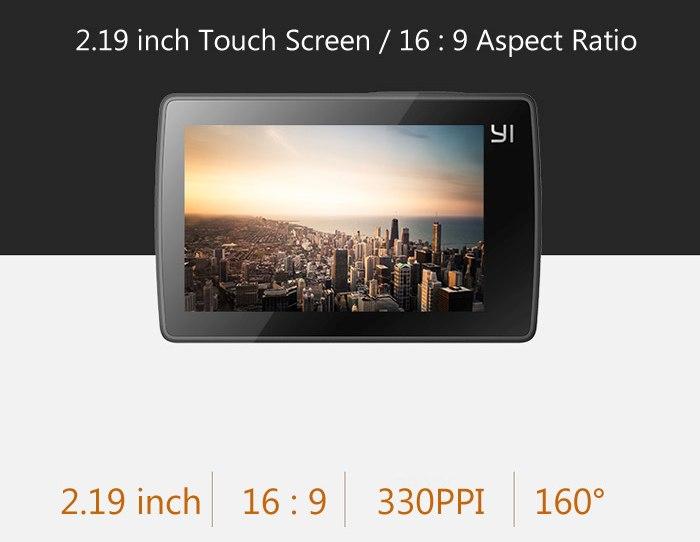 Xiaomi Yi 4K LCD-Touchscreen