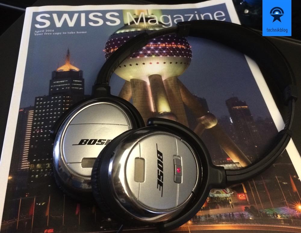 kabellose Kopfhörer im Flugzeug